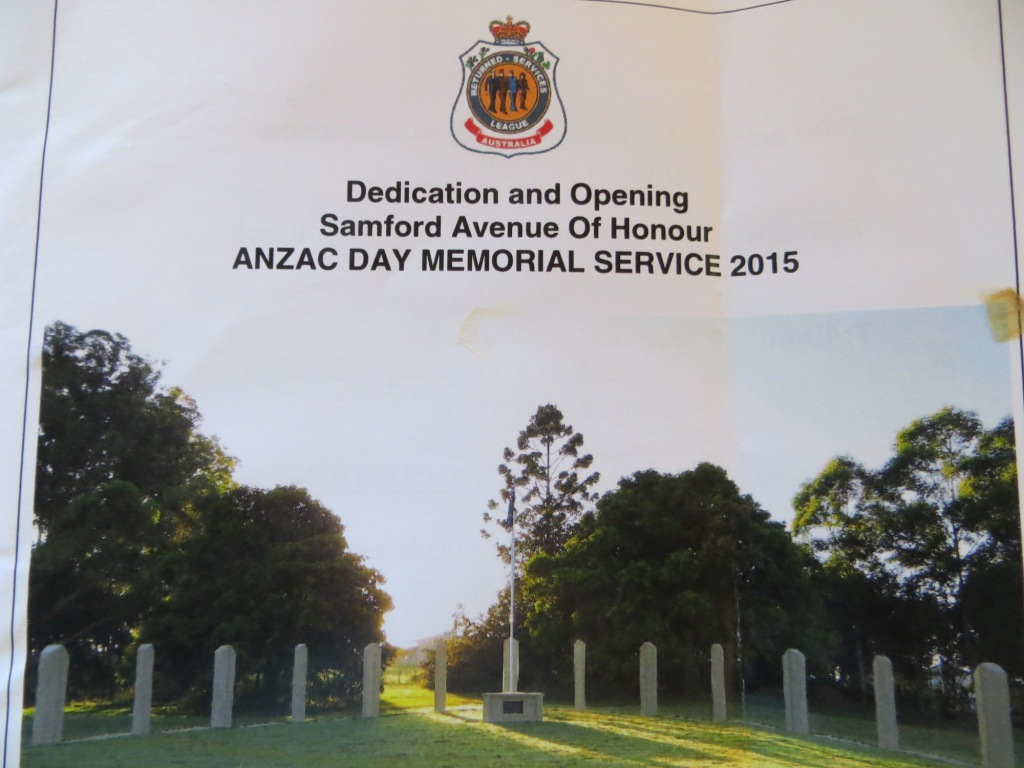 Samford Anzac Day and Avenue of Honour